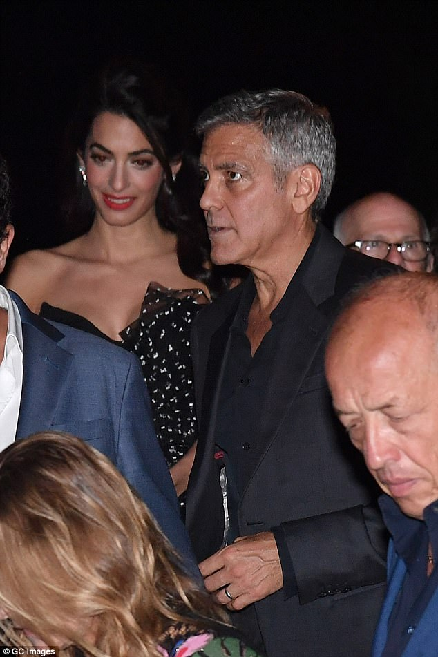 George and Amal and party at Da Ivo Venice tonight 43C301C100000578-4846262-image-a-42_1504343836523