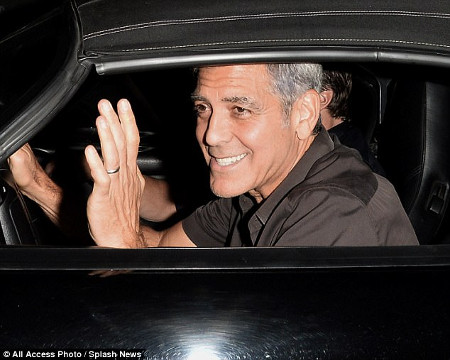 George Clooney takes a break from dad duties as he heads out for dinner with pals Rande Gerber and Bono  4461CEF800000578-4892448-image-a-46_1505647593023