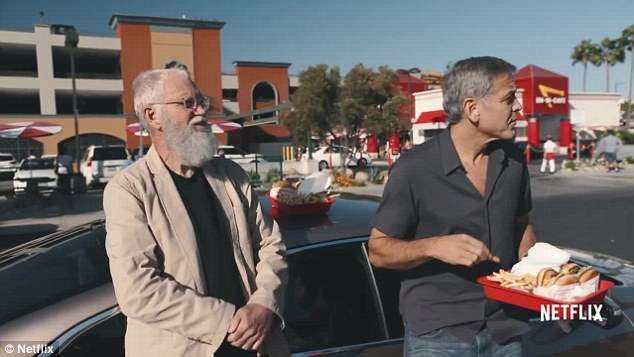 David Letterman shames George Clooney for not tipping 48FA2A4F00000578-0-image-a-30_1518057765617