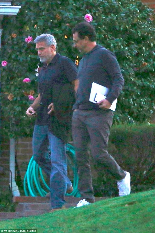 George Clooney a knight in shining armour - allegedly! 49722C9800000578-5418945-Wrong_era_It_is_not_known_what_project_the_Oscar_winner_is_worki-a-99_1519241573458