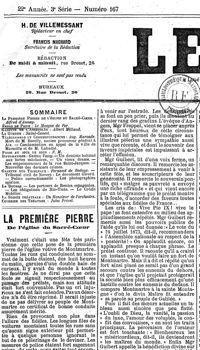 Il y a 141 ans... la pose de la première pierre du Sacré-Coeur  PHO4b62b06a-fd98-11e5-bf72-58d0fa6caeec-200x350