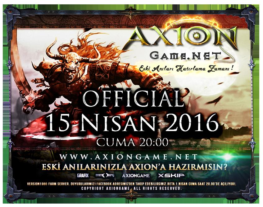 AxionGame OFFICIAL 15 Nisan 2016 Cuma 20:00 |v1980 Farm|Yeni Haritalar|Özel DB,Hediyeli Etkinlikler. V5Vyyp