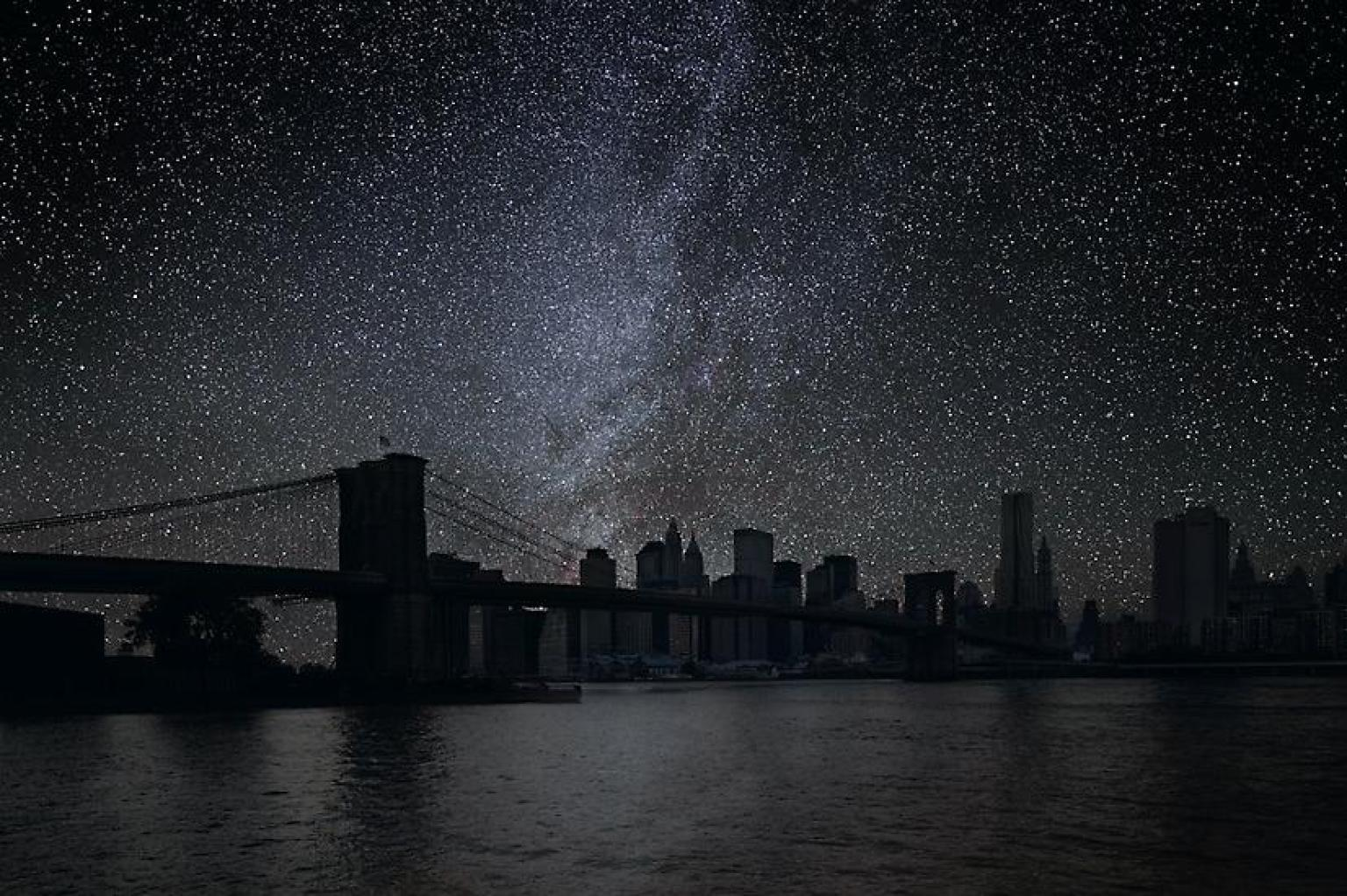 Las ciudades del mundo sin contaminación lumínica O-THIERRY-COHEN-NEW-YORK-facebook