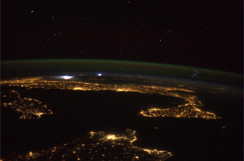 Parmitano scatta una magnifica foto dell'Italia Original