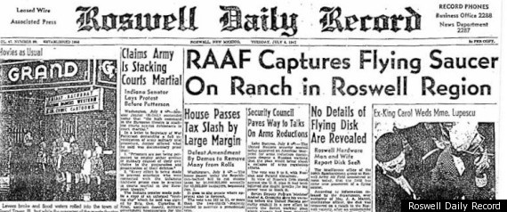 ALIEN ARTIFACT ANALYSIS DISCLOSURE : LEAKED INFO – REAL ALIENS and CRASHED CRAFT R-ROSWELL-NEWSPAPER-large570