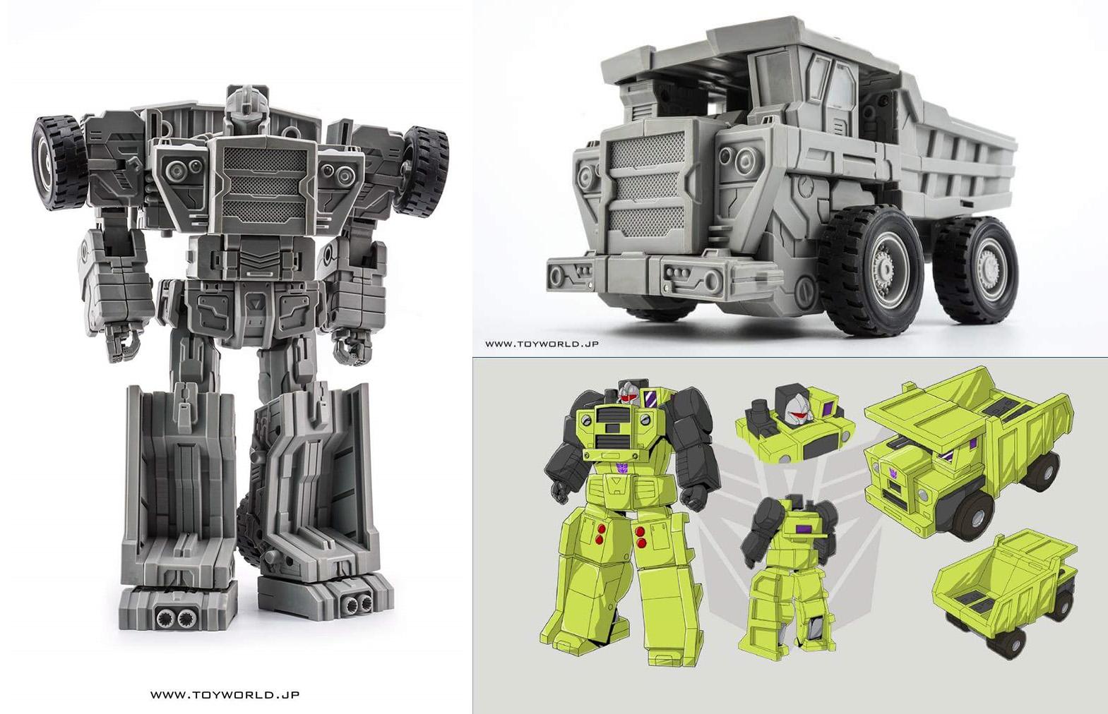 [Toyworld] Produit Tiers - Jouet TW-C Constructor aka Devastator/Dévastateur (Version vert G1 et jaune G2) - Page 2 MDvzf8RQ