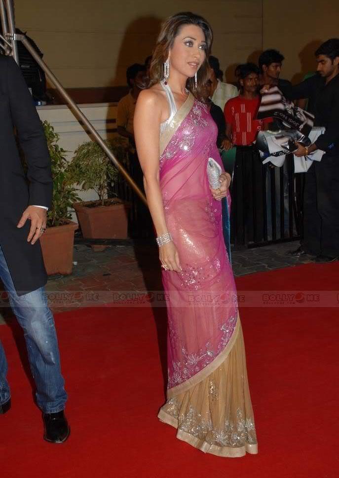 Karisma Kapoor in transparent saree at Nach Baliye 4 AclM3CVa