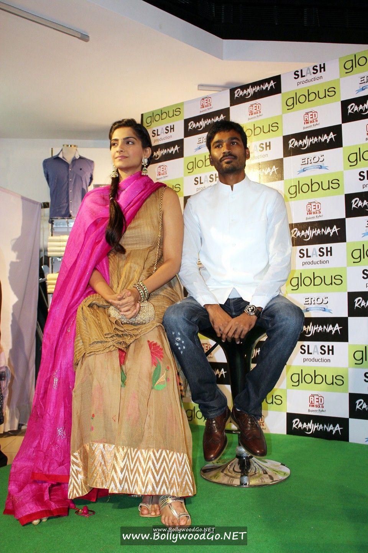 Sonam Kapoor and Dhanush at 'Campus Blues' Denim Fest AdkymZh0
