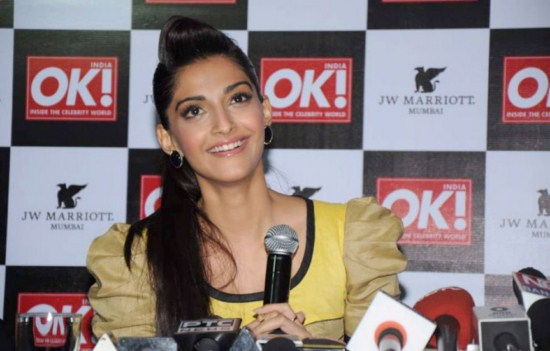 Sonam Kapoor at OK! magazine's cover launch AdofmOdJ