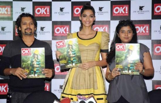Sonam Kapoor at OK! magazine's cover launch AdsWvDyi