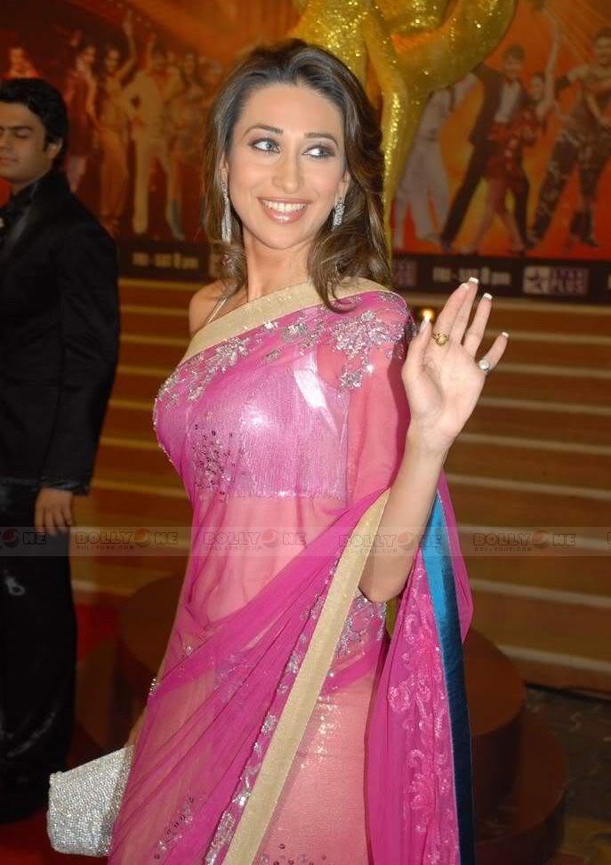Karisma Kapoor in transparent saree at Nach Baliye 4 AdtJNg1j