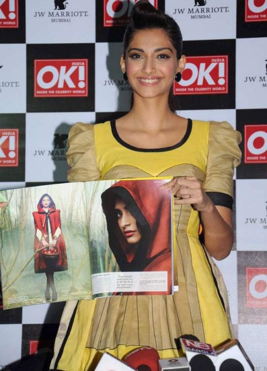 Sonam Kapoor at OK! magazine's cover launch AdvQO2aU