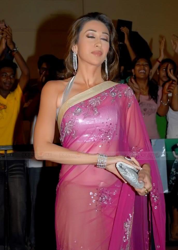 Karisma Kapoor in transparent saree at Nach Baliye 4 AdwFIcHu