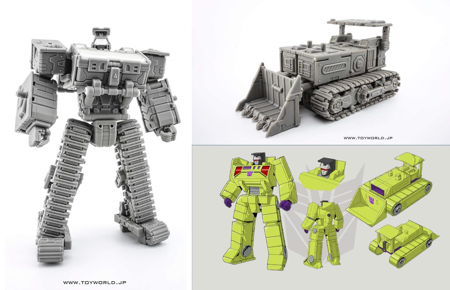 [Toyworld] Produit Tiers - Jouet TW-C Constructor aka Devastator/Dévastateur (Version vert G1 et jaune G2) - Page 2 GyN54n33