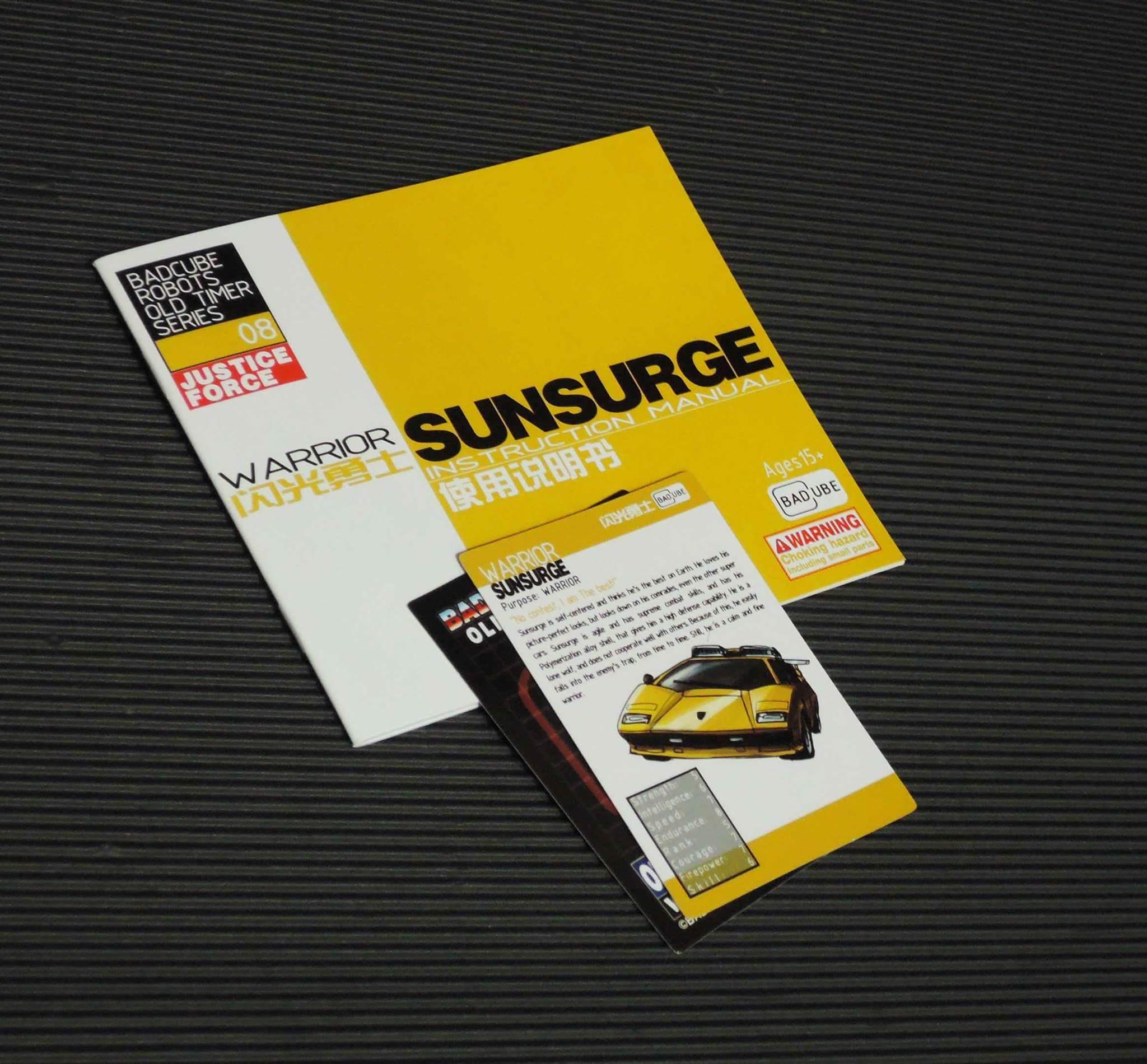 [BadCube] Produit Tiers - OTS-08 Sunsurge (aka Sunstreaker/Solo G1) + OTS-Special 01 Blaze (aka Sunstreaker/Solo Diaclone) - Page 2 UNsaSvTs
