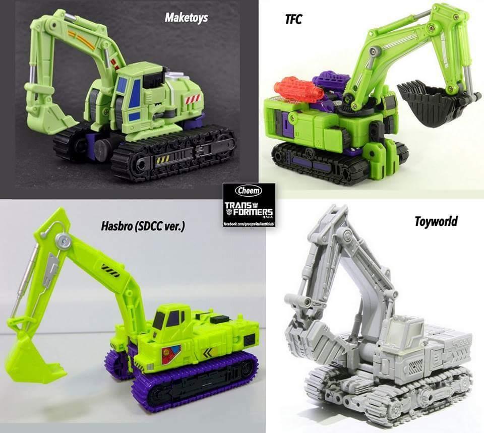 [Toyworld] Produit Tiers - Jouet TW-C Constructor aka Devastator/Dévastateur (Version vert G1 et jaune G2) WfyGKekW