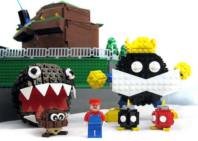 El primer nivel de Super Mario 64 hecho en Lego 856152645873998228