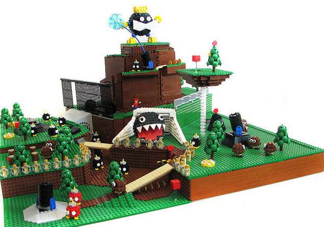El primer nivel de Super Mario 64 hecho en Lego 856152644294604692