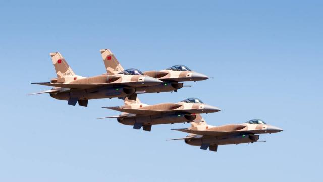 طائرات مغربية مقاتلة نوع  F16 Block52 تعود إلى أرض المغرب بعد تحديثها في الولايات المتحده  F16