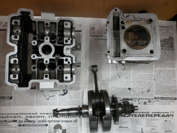 Разборка двигателя  Zongshen  157YMI по запчастям P1010721_800