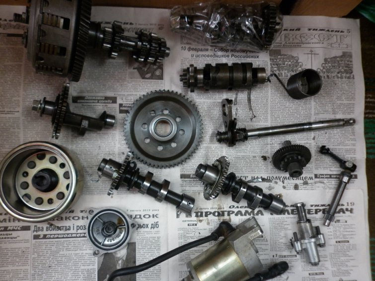 Разборка двигателя  Zongshen  157YMI по запчастям P1010722_800