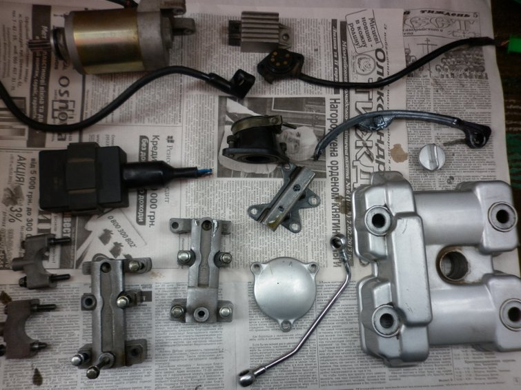 Разборка двигателя  Zongshen  157YMI по запчастям P1010724_800