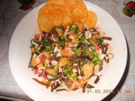 Постный салат из чипсов и морской капусты DSCN3862_500
