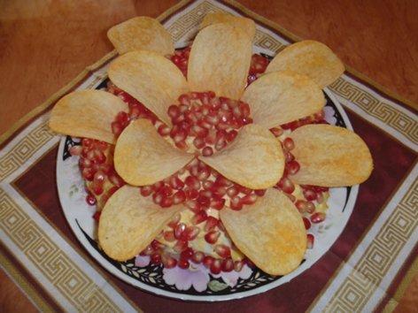 """Салат """"Гранатовый цветок"""" Salat_500"""