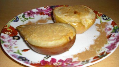 Яблоки и груши с творожным суфле CIMG2182_500
