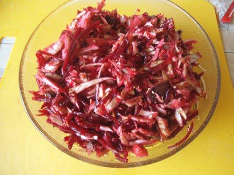 """Салат """"Корейские мотивы""""  с капустой, свеклой, грибами DSCF1542_500"""