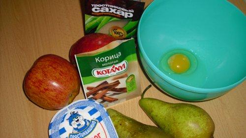 Яблоки и груши с творожным суфле CIMG2169_500