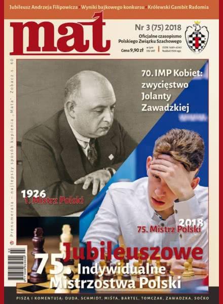 CHESS PERIODICALS :: Czasopismo MAT (Polish Chess Magazine) Mat-75-2018-03