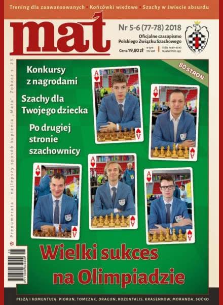 CHESS PERIODICALS :: Czasopismo MAT (Polish Chess Magazine) Mat-77-78-2018-05-06