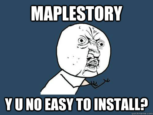 MapleStory Download problems 3586es