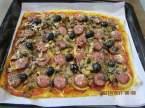 pizza aux saucisses de Toulouse et champignons Pizza_aux_saucisses_de_toulouse_et_champignons_021