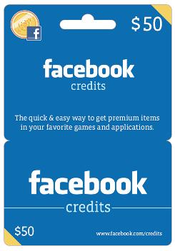Target to sell Facebook Credits gift cards Facebookx