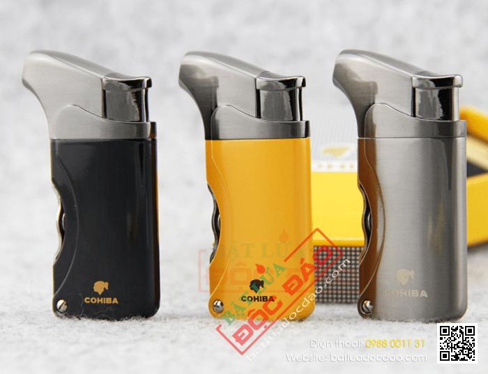 Bán bật lửa xì gà Cohiba H006 (1 tia lửa khò) 1445479598-bat-lua-hut-cigar-chinh-hang-cohiba-h006-01