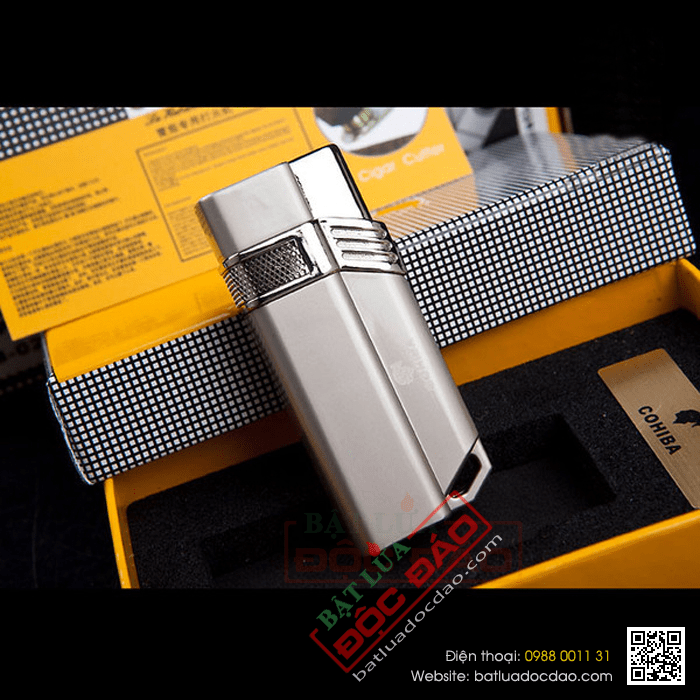 Bật lửa hút cigar 1 tia lửa khò Cohiba H063 1446001323-bat-lua-hut-cigar-chinh-hang-h063-02