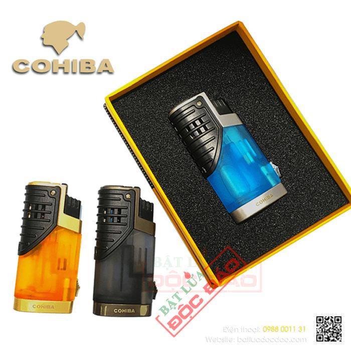 Quà tặng cao cấp cho sếp nam, bật lửa cigar Cohiba 3 tia kèm đục COB002 1464920310-bat-lua-kho-bat-lua-xi-ga-hop-quet-xi-ga-bat-lua-cigar-cohiba-1