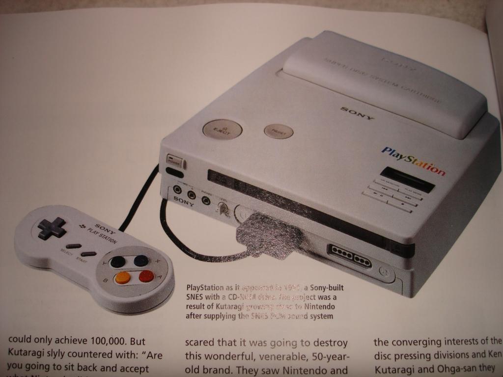 Une personne possède le prototype PlayStation Super Nintendo  Dsc00696