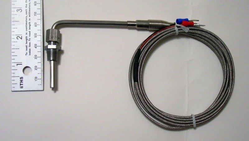 """Mäta """"EGT"""" utanpå grenröret? Type_K_thermocouple_temperature_sensor"""
