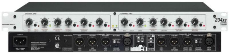 ¿Biamplificar con menor potencia, o monocablear con mayor potencia? DBX_Crossover_234XS_Stereo_2_3_Way