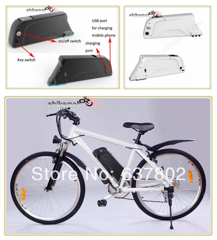 Batería en el cuadro de alta capacidad 36V New-white-color-case-37v-13ah-font-b-bottle-b-font-font-b-battery-b-font