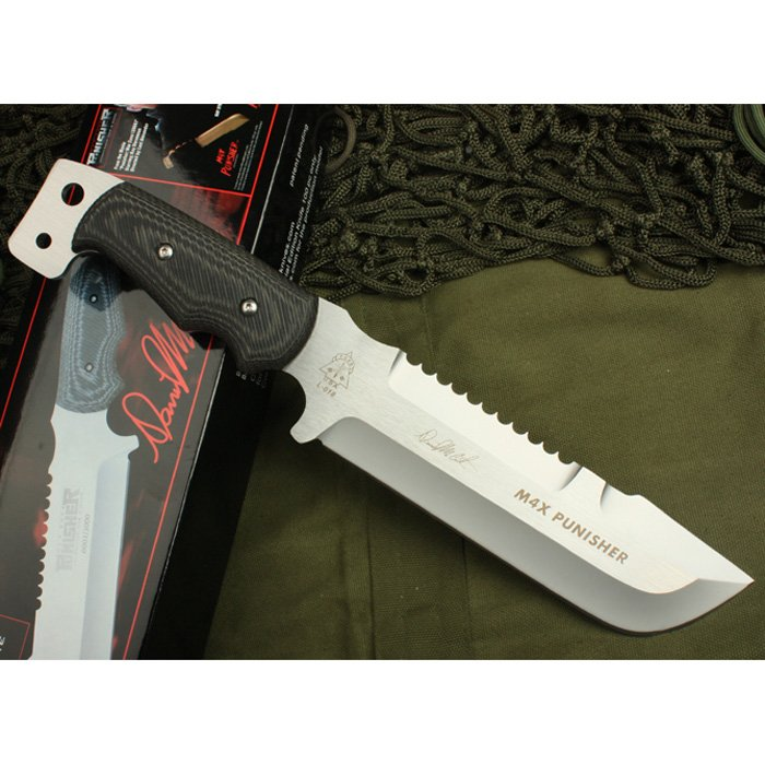 El Life -Sinnature-Edition-Tops-M4X-Punisher-Military-Attack-Knife-Tactical-Combat-Knife-Survival-Knives-Hunting-Knife