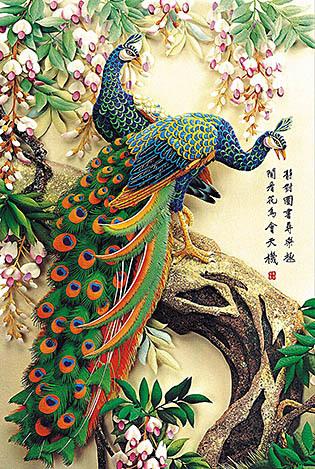 عم تتحدث الصور عن جمال الطاوس 1000-wool-font-b-puzzle-b-font-font-b-bird-b-font-peacock-material-quality-font