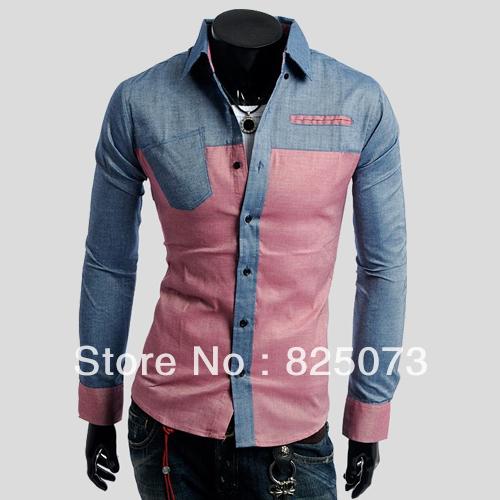 பாருங்கப்பா என்ன அழகு  - Page 3 2013-free-shipping-HOT-Korean-version-hit-color-pocket-design-men-s-fashion-shirts-long-sleeved