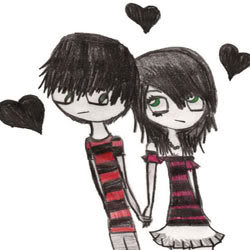 Cute Funny Icons Emo_love1