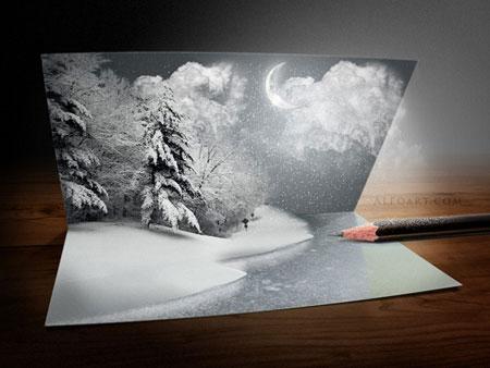 Урок №2 Волшебство Рождественской открытки 43a14dbca03e