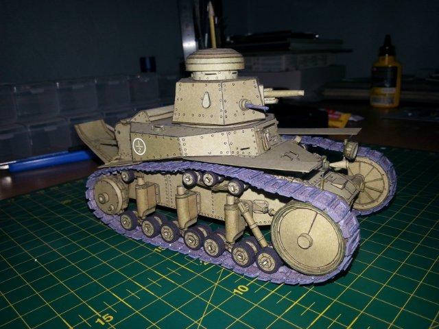 Т-18 (МС-1) Бумажное моделирование №45 B399a42f2c54