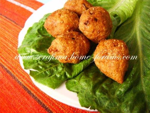Куббе. Арабская кухня (Котлетки из бургуля и мясного фарша) 36585e4eae6a